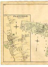 1876 map Bellingham Wrentham Plainville Caryville Sheldonville w/family 00004000  names