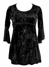 Jordash Tie Dye Velvet Long Top/Dress, Detachable Tie Belt Embroidered Mirrors