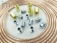 10m Bremsleitung 4,75 mm Kupfer +10 Überwurfmuttern Verschraubung +5 Verbinder