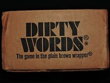 DIRTY WORDS -  ORIGINAL 1977 THE GAME IN THE PLAIN BROWN WRAPPER