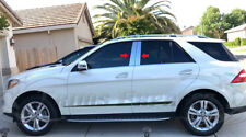 2012-2017 Mercedes Benz ML M-Class W166 4Pc Chrome Pillar Post ML63 Trim AMG