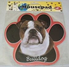 BULLDOG Black Dog Paw Shaped Computer MOUSE PAD Mousepad NEW IN PACKAGE