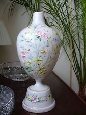 Opaline glass vase Belle Epoque hand painted high quality detailed