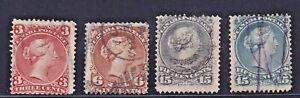 lad67 etiangui Lot Canada 1868-76 Sc#25,27,30