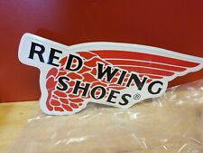 Red Wing Shoes Metal Sign (Old Logo Design)