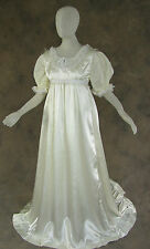Ivory Regency Jane Austen Style 2 Piece Satin Ball Wedding Gown Costume Large