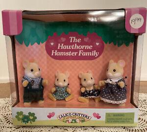 Calico Critters Of Cloverleaf Corners The Hawthorne Hamster Family NIB