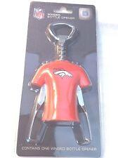 2016 Officially Licensed NFL Denver Broncos Cork Screw Winged Bottle Opener NEW