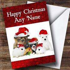 Les animaux carte de voeux de Noël Personnalisé