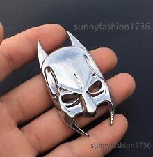 Chrome Metal 3D Car Badge Emblem Decor Sticker for Bat Batman Mask Dark Knight