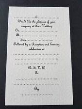 15 Wedding Invitation inserts for A5 gate fold card ivory hammered