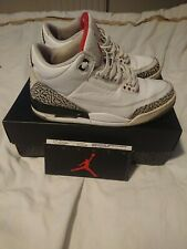 air jordan 3 white ciment en vente | eBay