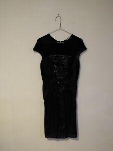 Thurley Black Lace Pattern Dress Womens Size 8