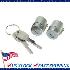 2X Lockcraft Door Lock Cylinder W/ 2 Keys Kit For Chevrolet GMC Truck