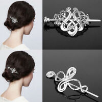 Women Hair Jewelry Celtics Knot Hairpin Hair Clips Metal Stick Slide Retro Clip