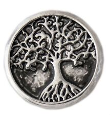 Silver Antiqued Tree of Life 20mm Snap Charm For Ginger Snaps Magnolia Vine