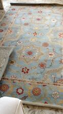 Pottery Barn Leslie Rug Blue 3x5 Floral Persian Wool New Authentic