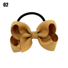 1X Baby Kids Fashion Ribbon Bow Elastic Rubber Bands Hair Rope Tie Accessories