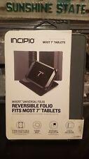 New INCIPIO Invert Universal Reversible Folio for 7inch Tablets Black / Gray