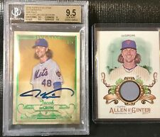BGS 9.5/10 JACOB DeGROM 2016 Topps Five Star AUTO Emerald 5/5 + Free Relic POP 1