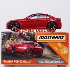 2020 Matchbox Power Grabs #12 '16 Alfa Romeo Giulia Alfa Red / Mib