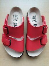 Betula Step 26 29 schmal rot Hausschuhe Sandalen Pantoletten Klettverschluss NEU