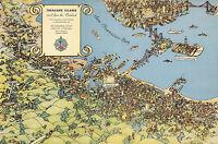 Pictorial Map Treasure Island, Alameda County, California Wall Art Poster Print