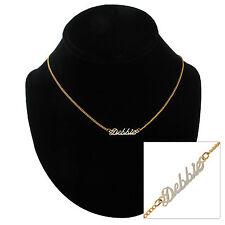 """Vintage Script 16"""" Gold Tone Name """"Debbie"""" Charm Necklace"""