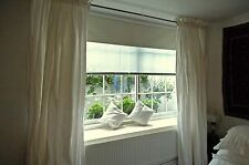 """Pair of Ivory Rod Top Dupioni Silk Drapes, 100"""" W X 108"""" L with Blackout Lining"""