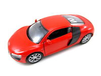 Audi R8 V10 in rot Modellauto Metall 1:34, diecast,Welly Nex Model