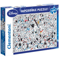 "Clementoni Disney 101 Dalmatians ""Impossible"" 1000 Piece Jigsaw Puzzle NEW"