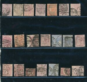 D125846 Great Britain QV Nice selection of Mostly VFU Used stamps