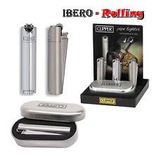 Encendedor Clipper metal Pipe Lighter caja plateada, regulable, recargable, 1 un