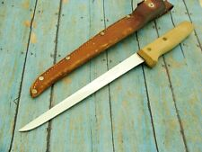 BIG VINTAGE RONNINGS SWEDEN FIXED BLADE FISHING FILET KNIFE KNIVES