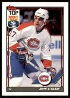 1991-92 Topps Set Break John LeClair Montreal Canadiens #209