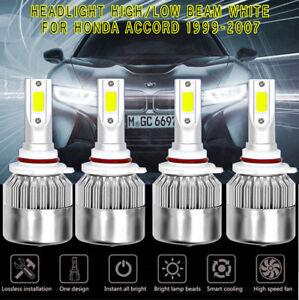 NEW Super White 6000K 72W COB LED Headlight Hi/Lo Beams For Honda Accord 1999-07