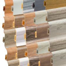 Sockelleisten Fußleisten Laminatleisten mit Kabelkanal Fussleiste