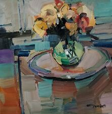 JOSE TRUJILLO Oil Painting IMPRESSIONISM STILL LIFE FLOWERS CONTEMPORARY ARTIST