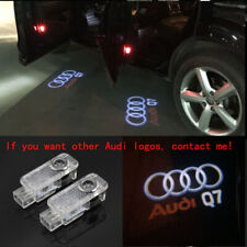 Audi Q7 2X LED Light 3D Logo Projector Emblem Ghost Shadow Door Welcome Light