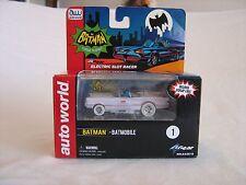2014 Auto World CHASE Batmobile WHITE LIGHTNING Electric Slot Racer