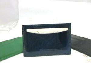 Henri Bendel Patent Leather Credit Card Holder Business Card Holder Blue