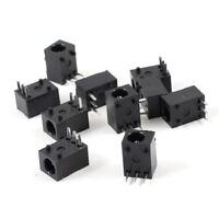 10 Pcs Black 3 Pin 3.5mm x 1.3mm DC Power Jack Socket PCB Mount WS R6S2