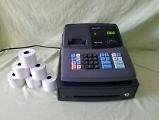 Used Sharp Xe A106 Electronic Cash Register Without Key Extra Paper Tested