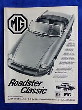 MG B Roadster - Werbeanzeige Reklame Advertisement 1975 __ (836