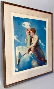 """ROCKWELL, Norman Lithograph """"Top of the World"""" Artists Proof A/P Signed & No."""
