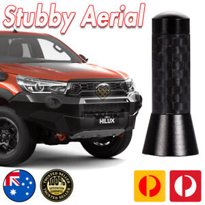 Antenna / Aerial Stubby Bee Sting for Toyota Hilux SR5 Black Carbon 3.5 CM