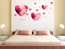 5700036 | Wall Stickers Hearts in Pink Bedroom Headboard Decoration Art Decal