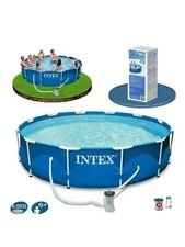 Intex Metal Frame Swimming Pool Set 3.66m x 76cm WITH FILTER PUMP Quick Shipping