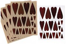 5 Sheets Provo Craft Red Patterned Hearts Love Scrapbook Stickers