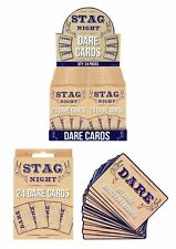 24 Stag Dare Cards Stag Do Party Guys Funny Naughty Drinking Fun
